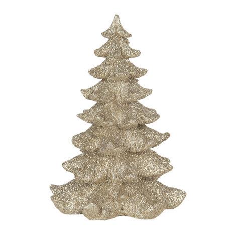 Decoratie kerstboom 15*15*21 cm Goudkleurig | 6PR3037 | Clayre & Eef