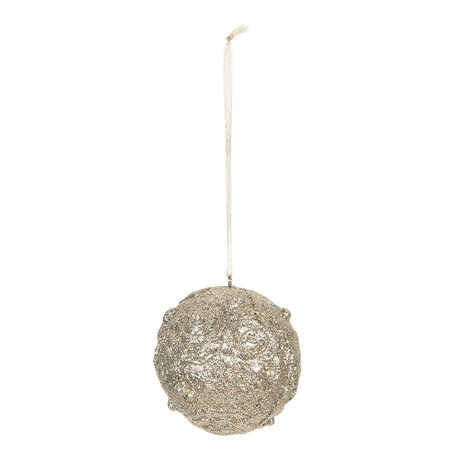Kerstbal ø 6*6 cm Goudkleurig | 6PR3038 | Clayre & Eef