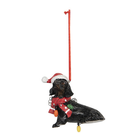 Decoratie hanger hond 7*4*8 cm Multi | 6PR3048 | Clayre & Eef
