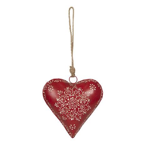 Decoratie hanger hart 16*4*16 cm Rood | 6Y3717 | Clayre & Eef