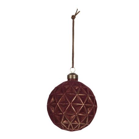 Kerstbal (set van 4) ø 10 cm Rood | 6GL2714 | Clayre & Eef