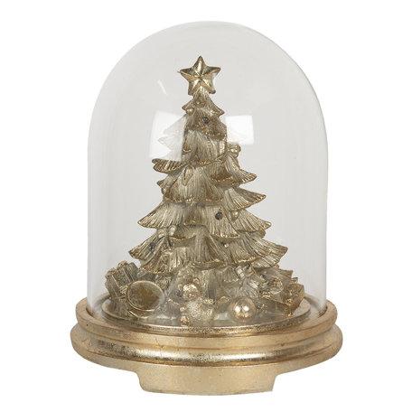Stolp met decoratie ø 25*32 cm LED Goudkleurig | 6GL2808 | Clayre & Eef