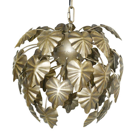 Hanglamp ø 37*35/142 cm E27/max 1*40W Goudkleurig | 6LMP685 | Clayre & Eef