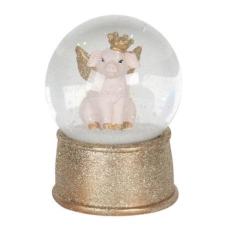 Sneeuwbol ø 10*13 cm Goudkleurig | 64575 | Clayre & Eef