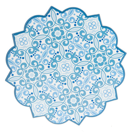 Pannenonderzetter 20*20 cm Blauw | 6CE0978 | Clayre & Eef