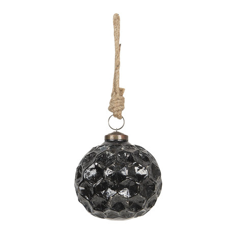 Kerstbal ø 10*10 cm Zwart | 6GL2609 | Clayre & Eef