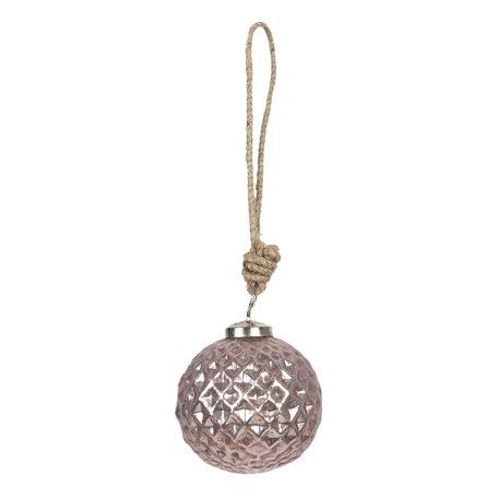 Kerstbal ø 8*8 cm Roze | 6GL2614 | Clayre & Eef
