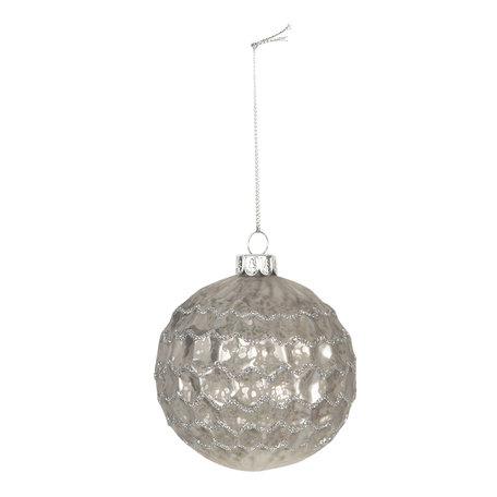Kerstbal (set van 4) ø 8 cm Wit | 6GL2689 | Clayre & Eef