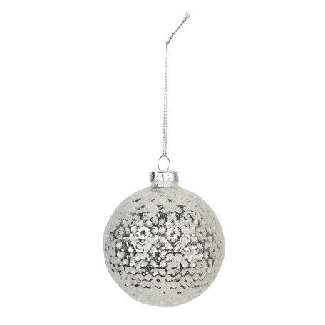 Kerstbal (set van 4) ø 8 cm Wit | 6GL2701 | Clayre & Eef
