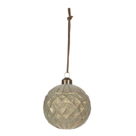 Kerstbal (set van 4) ø 8 cm (4) Goudkleurig | 6GL2718 | Clayre & Eef