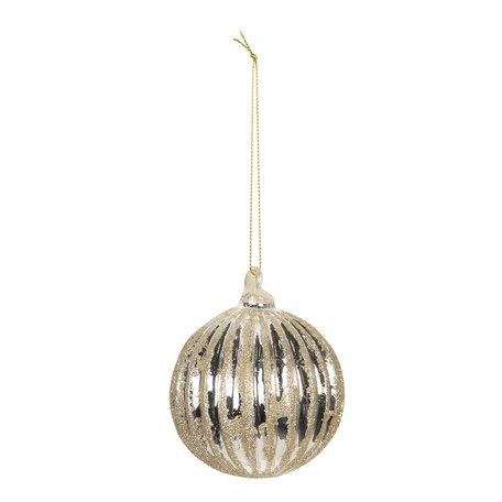 Kerstbal ø 8 cm (4) Zilverkleurig | 6GL2722 | Clayre & Eef