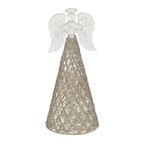 Decoratie engel ø 7*16 cm Goudkleurig | 6GL2726 | Clayre & Eef