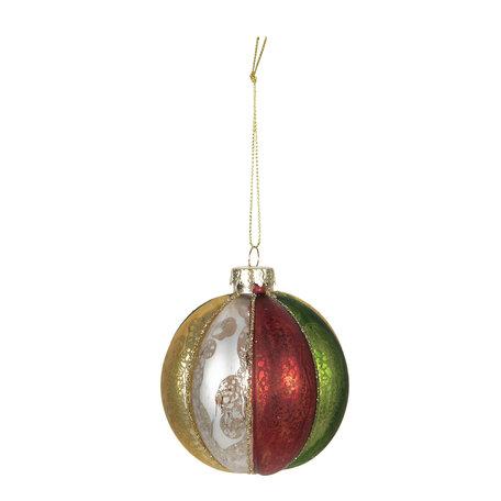 Kerstbal (set van 4) ø 8 cm Multi | 6GL2736 | Clayre & Eef