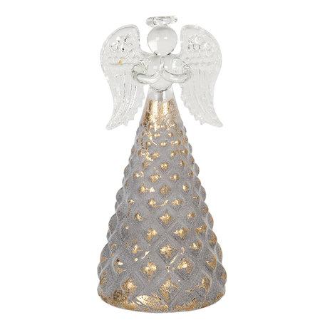 Decoratie engel ø 6*12 cm Goudkleurig | 6GL2750 | Clayre & Eef