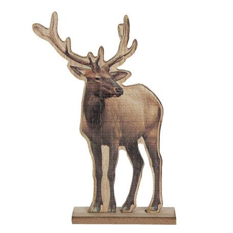 Decoratie rendier 16*4*25 cm Bruin | 6H1887 | Clayre & Eef