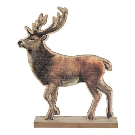 Decoratie rendier 22*5*26 cm Bruin | 6H1899 | Clayre & Eef