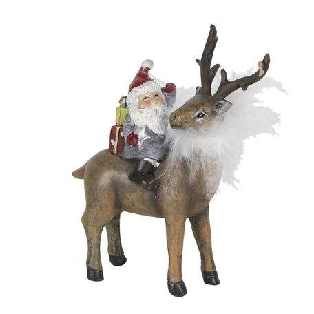 Decoratie kerstman 12*5*13 cm Multi | 6PR2962 | Clayre & Eef