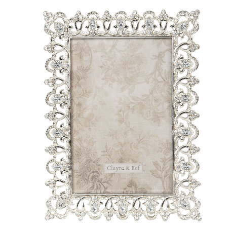 Fotolijst 11*2*17 cm / 7*13 cm Zilverkleurig | 2F0660 | Clayre & Eef