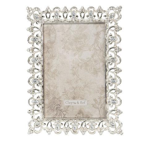 Fotolijst 14*2*19 cm / 10*15 cm Zilverkleurig | 2F0661 | Clayre & Eef