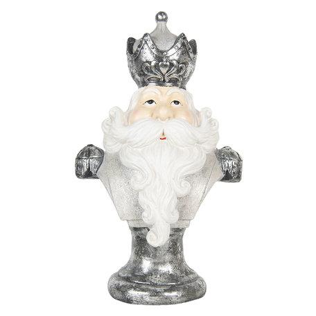 Decoratie kerstman 39*27*65 cm Grijs | 5PR0065 | Clayre & Eef