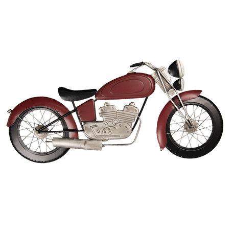 Wanddecoratie motor 99*5*45 cm Rood | 5W6Y3616 | Clayre & Eef