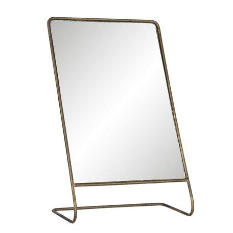 Spiegel 22*11*36 cm Goudkleurig | 62S189 | Clayre & Eef