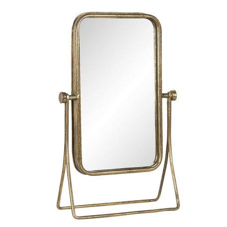 Spiegel 24*10*38 cm Goudkleurig   62S190   Clayre & Eef