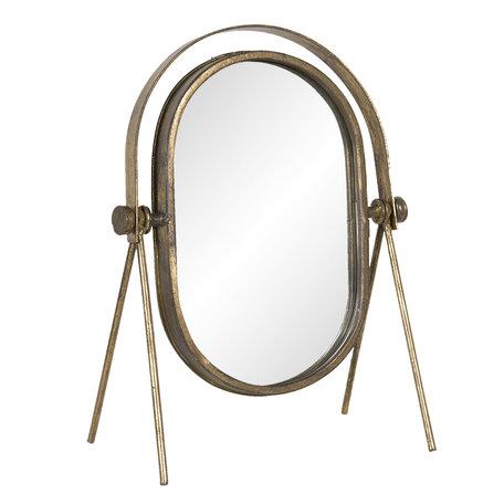 Spiegel 24*15*33 cm Goudkleurig | 62S191 | Clayre & Eef