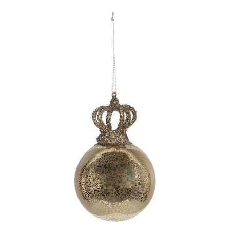 Kerstbal (set van 4) ø 8*12 cm (4) Goudkleurig | 6GL2746 | Clayre & Eef