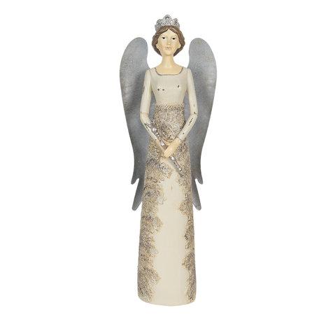 Decoratie engel 13*11*41 cm Creme | 6PR2885 | Clayre & Eef