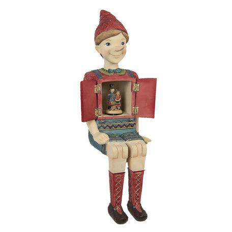 Decoratie figuur Pinokkio 19*18*46 cm Multi | 6PR2915 | Clayre & Eef