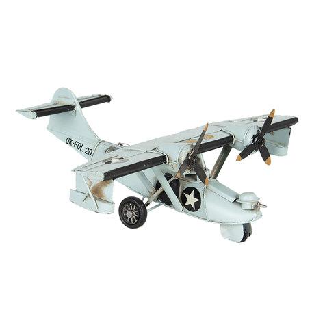 Model vliegtuig 28*24*10 cm Wit   6Y3820   Clayre & Eef