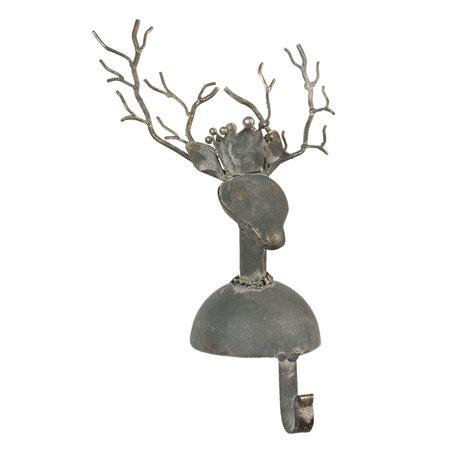 Sokhanger hert 17*13*33 cm Grijs | 6Y4005 | Clayre & Eef