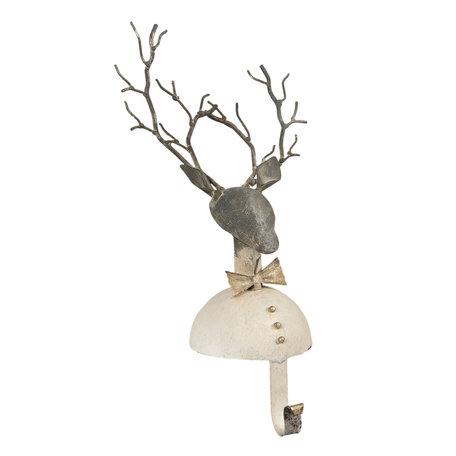 Sokhanger hert 17*13*33 cm Wit | 6Y4006 | Clayre & Eef