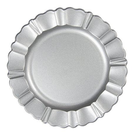 Bord ø 33 cm Zilverkleurig   64595ZI   Clayre & Eef