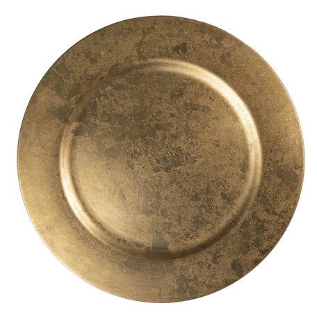 Bord ø 33 cm Goudkleurig | 64601 | Clayre & Eef