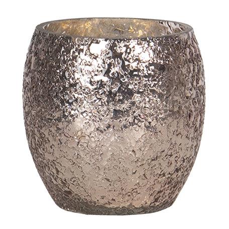 Waxinelichthouder ø 11*10 cm Goudkleurig | 6GL2604S | Clayre & Eef