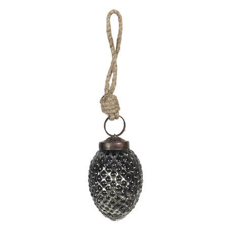 Kerstbal ø 3*6 cm Zwart | 6GL2613 | Clayre & Eef