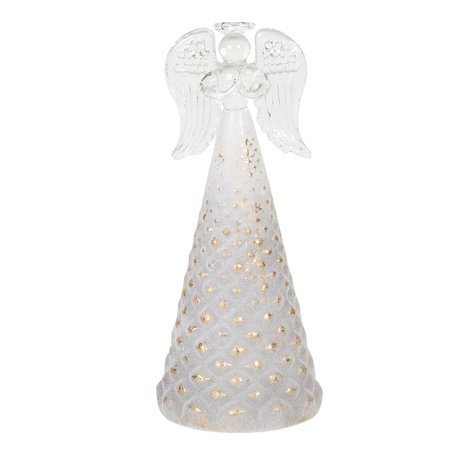 Decoratie engel ø 7*16 cm Goudkleurig | 6GL2751 | Clayre & Eef