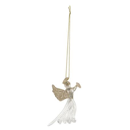 Decoratie hanger engel 8*1*8 cm Goudkleurig | 6GL2754 | Clayre & Eef