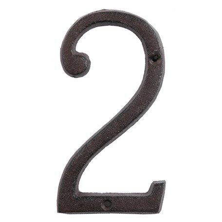 Nummer (2) 15 cm Bruin | 6Y0264-2 | Clayre & Eef