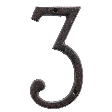 Nummer (3) 15 cm Bruin | 6Y0264-3 | Clayre & Eef