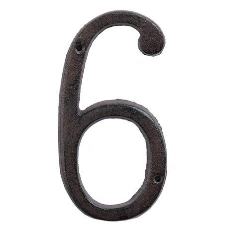 Nummer (6) 15 cm Bruin | 6Y0264-6 | Clayre & Eef