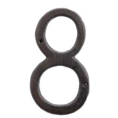 Nummer (8) 15 cm Bruin | 6Y0264-8 | Clayre & Eef