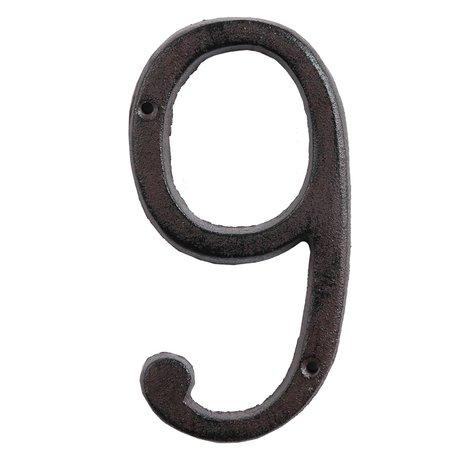 Nummer (9) 15 cm Bruin | 6Y0264-9 | Clayre & Eef