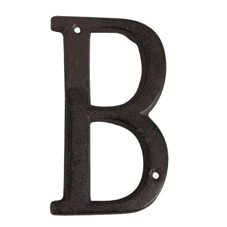 Letter B 13 cm Bruin | 6Y0840-B | Clayre & Eef