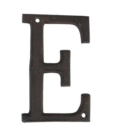 Letter E 13 cm Bruin | 6Y0840-E | Clayre & Eef