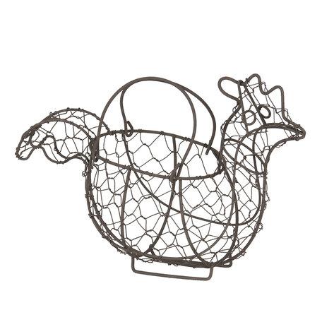 Eierhouder kip 28*14*20 cm Zwart | 6Y3762 | Clayre & Eef