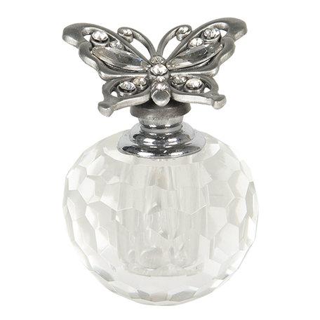 Parfumflesje vliender 5*4*9 cm Transparant | 6ZI369 | Clayre & Eef