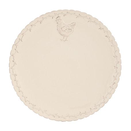 Bord ø 26 cm Creme   CHRFP   Clayre & Eef